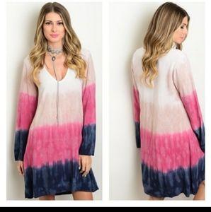 ✌Tie Die Comfort Flowy 60s look bell sleeves New